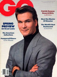 Patrick Swayze, courtesy of http://www.coverbrowser.com/covers/gq/6